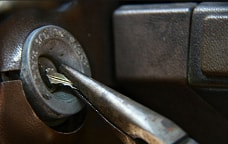 Key brock in the ignition