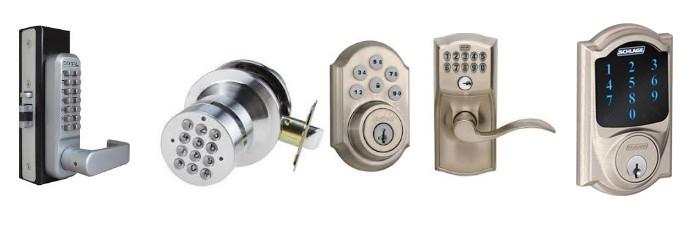 keyless door lockset
