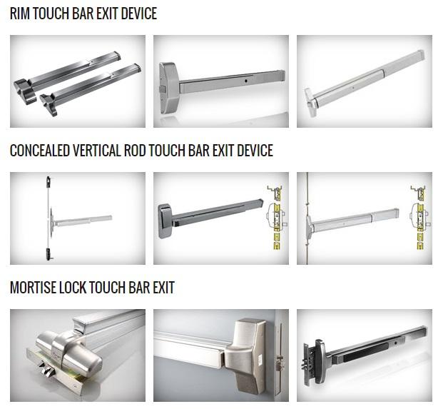 Commercial door exit devices