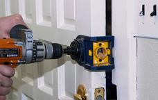 High Security Door lock installation on a door