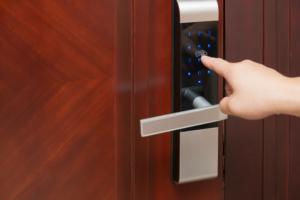 electronic entry door lock install