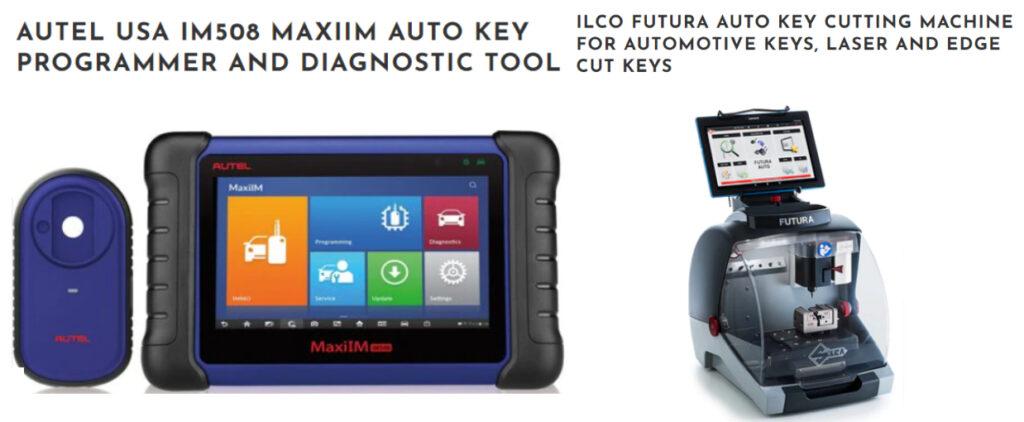 Car keys cutting and programing locksmith machines