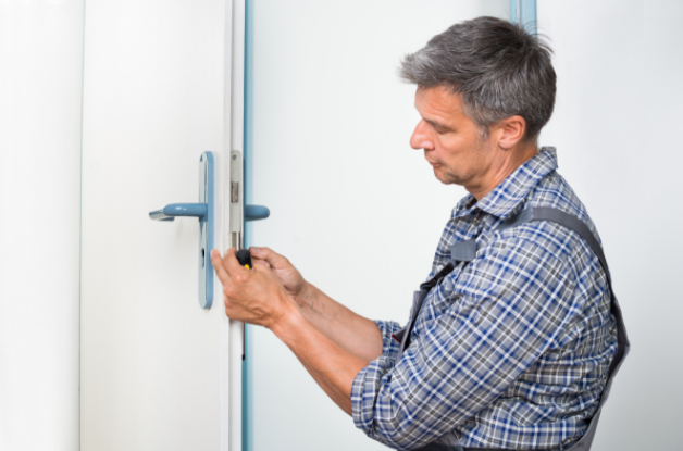 Lock maintenance by a locksmith
